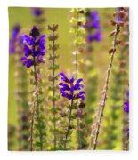 Painted Purple Sage Salvia Fleece Blanket