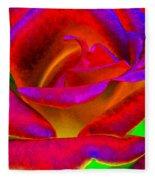 Painted Rose 1 Fleece Blanket