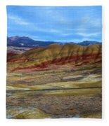 Painted Sky Over Painted Hills Fleece Blanket