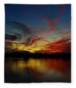 Painted Sky  Fleece Blanket