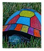 Painted Turtle Sprinkler Fleece Blanket
