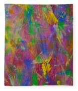 Painted Wooden Wall Fleece Blanket