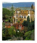 Palace Of The Arabian King - Ronda Fleece Blanket