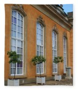 Palace Windows And Topiaries Fleece Blanket