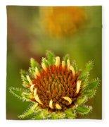 Pale Purple Coneflower Bud Fleece Blanket