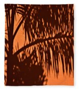 Palm Frond Abstract Fleece Blanket