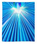 Palm Frond In Blue Fleece Blanket
