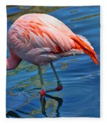Palm Springs Flamingo Fleece Blanket