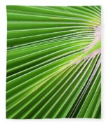 Palm Tree Frond Fleece Blanket