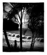 Palm Tree Silouette Fleece Blanket