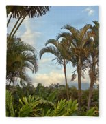 Palms In Costa Rica Fleece Blanket