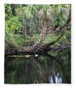 Palms On The River Fleece Blanket