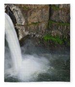 Palouse Falls In Spring Fleece Blanket
