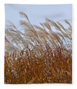 Pampas Grass In The Wind 1 Fleece Blanket