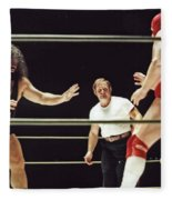Pampero Firpo Vs Texas Red In Old School Wrestling From The Cow Palace  Fleece Blanket