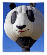 Panda Bear Hot Air Balloon Fleece Blanket