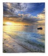 Panglao Island Sunrise Fleece Blanket