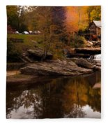 Panorama  Glade Creek Mill Fleece Blanket