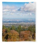 Panorama Of Dublin City And The Dublin Bay Fleece Blanket