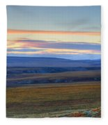 Panoramic At Sunset Along The Dempster Fleece Blanket