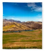 Panoramic Range Land Fleece Blanket
