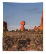 Panoramic View Of Balance Rock                                                       Fleece Blanket