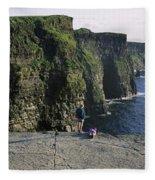 Panoramic View Of Cliffs, Cliffs Of Fleece Blanket