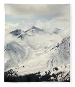 Panoramic View Of Snow-covered St Fleece Blanket