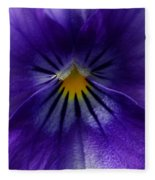 Pansy Abstract Fleece Blanket