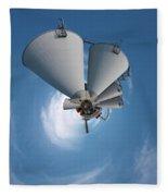 Paper Mill In The Sky Fleece Blanket