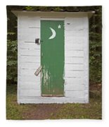 Paper Moon Outhouse Fleece Blanket