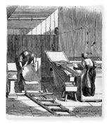 Papermaking, 1833 Fleece Blanket
