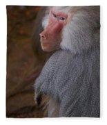 Papio Hamadryas Baboon Fleece Blanket