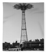 Parachute Drop In Black And White Fleece Blanket