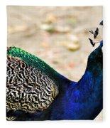 Parading Peacock Fleece Blanket