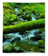 Paradise Of Mossy Logs And Slow Water   Fleece Blanket