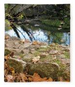 Paradise Springs Stone Wall Fleece Blanket