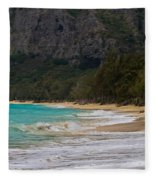Paradise With A Ocean View Fleece Blanket