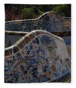 Parc Guell Barcelona Fleece Blanket