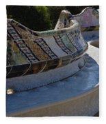 Parc Guell Spain Fleece Blanket