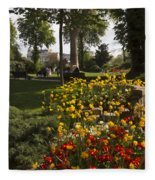 Parc Les Invalides In Spring Fleece Blanket