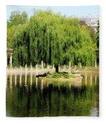 Parc Monceau Paris Fleece Blanket