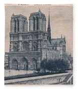 Paris - Notre Dame Fleece Blanket