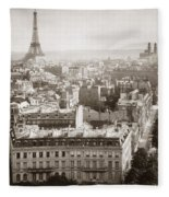 Paris: Aerial View, 1900 Fleece Blanket
