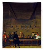 Paris: Billiards, 1725 Fleece Blanket