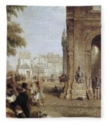 Paris: Book Stalls, 1843 Fleece Blanket