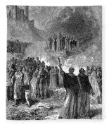 Paris: Burning Of Heretics Fleece Blanket