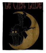 Paris Cafe Poster Fleece Blanket