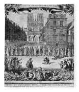 Paris: Catholic Procession Fleece Blanket