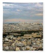 Paris City View Fleece Blanket